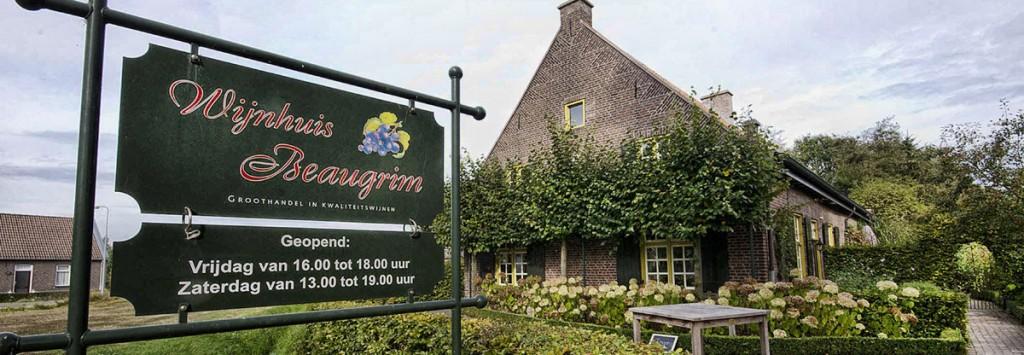"""Wijnhuis Beaugrim is gevestigd in een rijksmonumentale """"wijnboerderij"""" uit 1824"""
